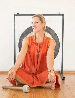 Andrea Marcum Seated Gong Orange Dress