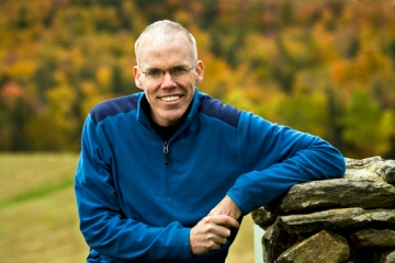 Portrait of Bill McKibben, author and activist. photo ©Nancie Battaglia